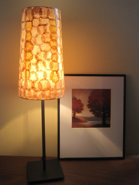 RESERVED FOR SARAH  - Coffee Filter Art - Table Lamp Table Light Paper Lamp Shade Coffee Filter Lamp Ecofriendly Lighting