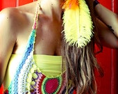 Extra Long Single Ostrich Feather Earring, yellow feather, feather hair extensions, hair feathers, feather earrings, feather symbolism