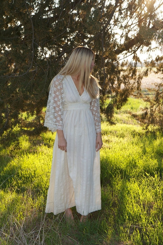 Vintage wedding gown lily by daughtersofsimone on etsy for Wedding dress dry cleaning denver