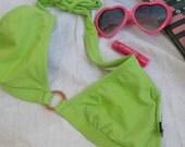 Vintage Tommy Hilfiger Bikini Top in LIMEMADE