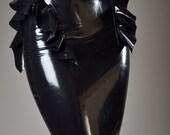 Highwaisted Latex Peplum Skirt