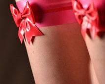 Latex Bow Garters