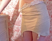 50s Playtex taupe stretch floral girdle with garters size 6.