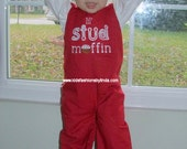 Lil Stud Muffin Red Longalls