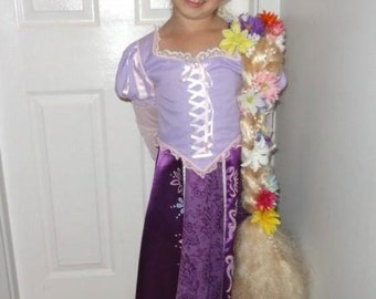 Girl's Deluxe Rapunzel Costume from Disney's Tangled Size 7-8 (Dress Only plus BONUS Trick-Or-Treat Bag)