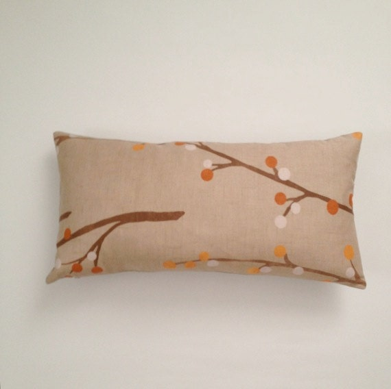 Decorative Bolster Pillow Covers : Decorative Bolster Pillow Cover Beige and Orange Medium