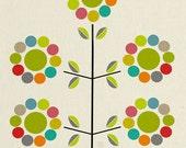 sake flower - mid century design art print