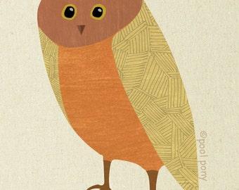 owl - mid century design art print