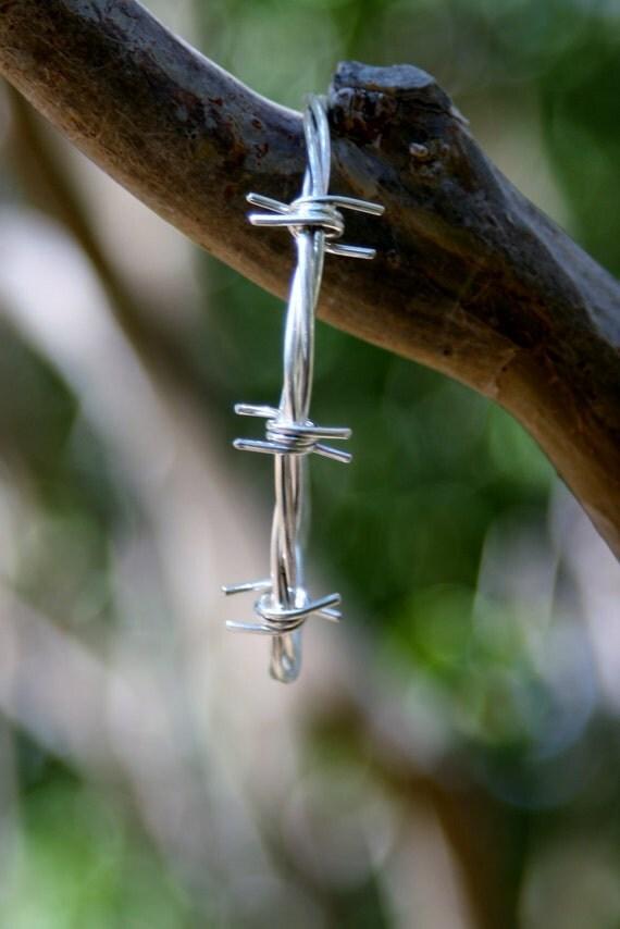 Handmade Sterling Silver Barbed Wire Cuff/ Bracelet