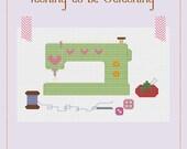 Itching to be Stitching - A Cross Stitch Pattern by Kaye Prince of Miss Print