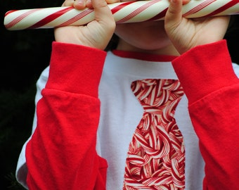 Candy Cane tie kids t-shirt