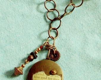 Antique Look Locket Necklace