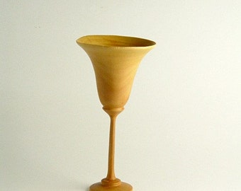 """Natural Edge Apple Goblet 2.75"""" Diameter by 5.5"""" Tall"""