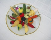 12 Hand Crochet FRUITS or VEGGIES, pretend play food
