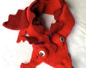 Dragon Scarf  - KNITTING PATTERN -  pdf file by automatic download