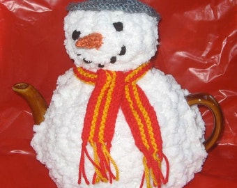 Snowman Tea Cosy - KNITTING PATTERN - pdf file by automatic download