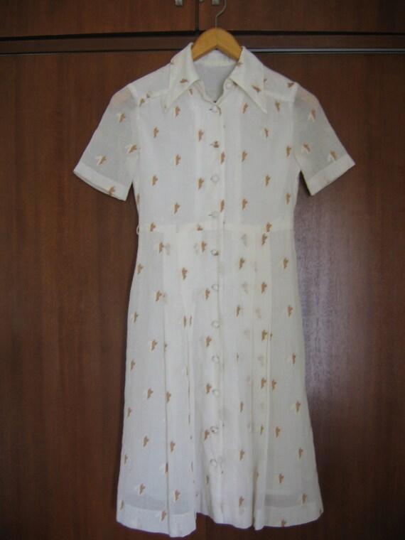 White 50s summer dress 30% OFF