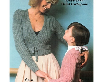 Knitting Pattern Wrap Over Cardigan : Ballet cardigan Etsy
