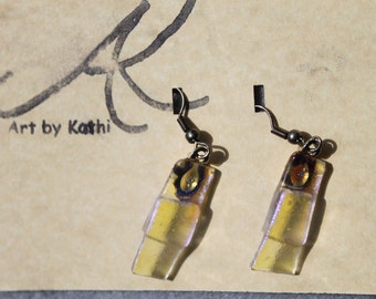 Clear dicro earrings