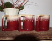 """Vintage set of 3 """"Padilla"""" coffee mugs"""