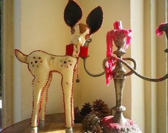 Handmade Pleather Deer Vintage Decorative Animal Figurine
