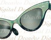Sunglasses Beach Sun Shades Glasses Polarized - Digital Image - Vintage Art Illustration