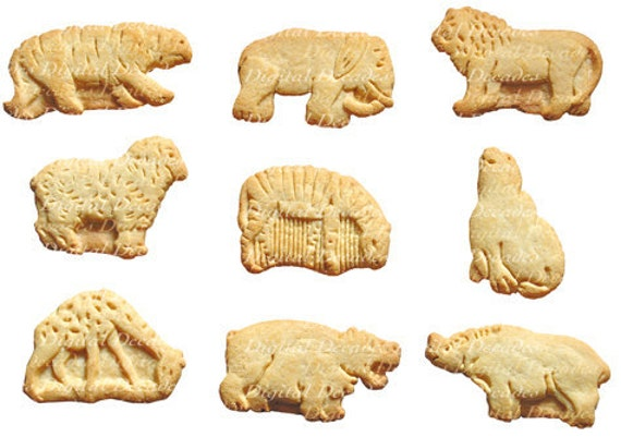 Animal Crackers - Cookies Snack Food Kids Zoo Circus Lion Tiger Seal ...