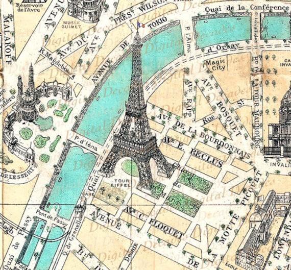 map champ de mars france french paris eiffel tower