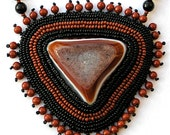 An embellished beaded necklace I call MYSTICAL -- (ON SALE)