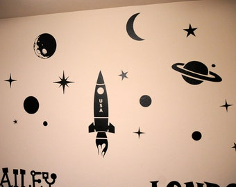 Outer Space Pack - Wall Decals
