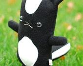 Skunk stuffed animal, Cute skunk plush, skunk toy, Handmade skunk softie, kawaii skunk plushie, cuddly boys gift, kids room decor stuffy toy