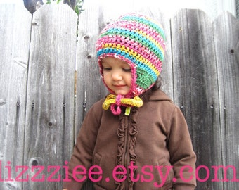 Pattern Quick & Easy Earflap Crochet Hat PDF  - great everyday hat, easy to make, very fast project - Instant Digital Download