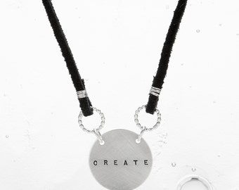 sterling and suede necklace