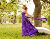 """RESERVED for Chelsea Young - 1 Custom Double Full """"Infinity"""" gown in Plum Wine Venezia"""
