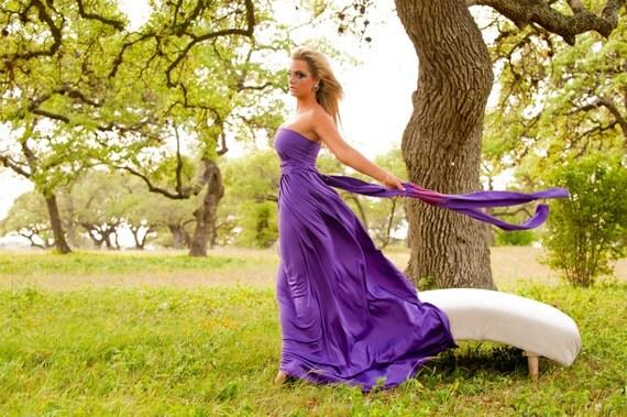 "RESERVED for Danielle Ferguson - 6 Custom Double Full ""Infinity"" flutter hem gowns in TicTac green & Peach crystal with Silver Hem"