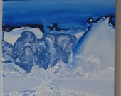 A Frigid Winter - Dramatic Modern Abstract Landscape - Original Painting