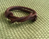 Men's Ring of Vintage Ranch Wire, Handcrafted, Simple