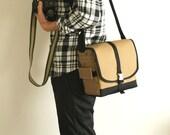 Aibo Camera Bag - water-repellent durable canvas - Amber