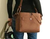 Medium Studio Camera Bag - water-repellent durable canvas & 6 exterior colors - Brown