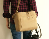 Medium Studio Camera Bag with Inner Flap - water-repellent durable canvas & 6 exterior colors - Amber