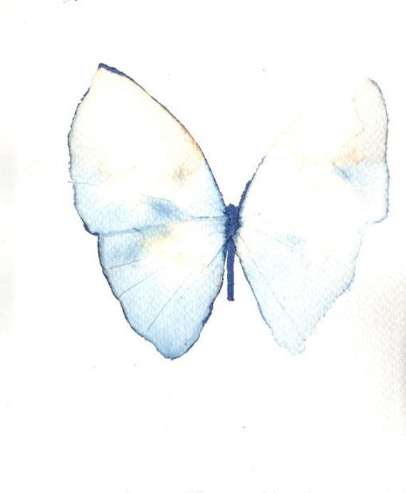 Items similar to delicate pale blue and white butterfly