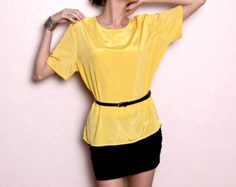 Vintage Bright Yellow Blouse