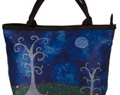 Whimsical Trees Small Purse, Small Handbag From my Original Oil Painting, The Couple