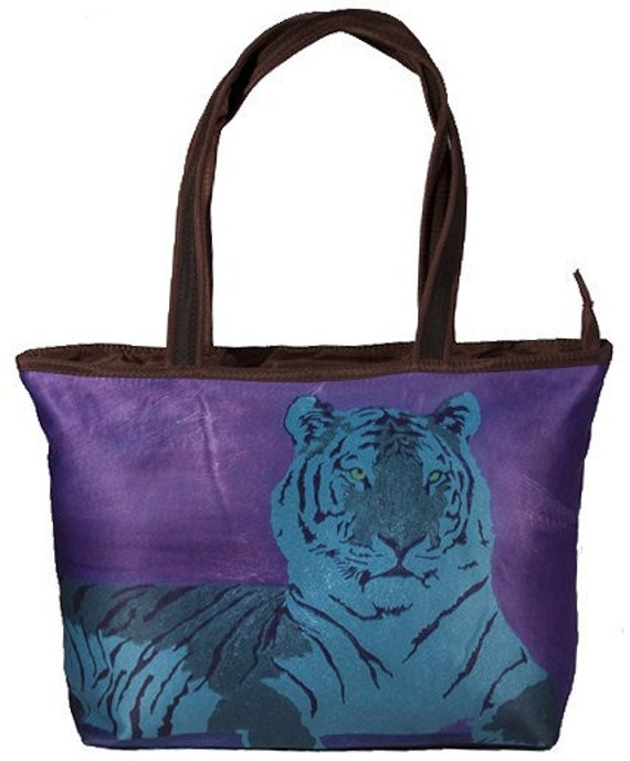 A Watchful Queen Large Handbag by Salvador Kitti - Stunning Purple Tote