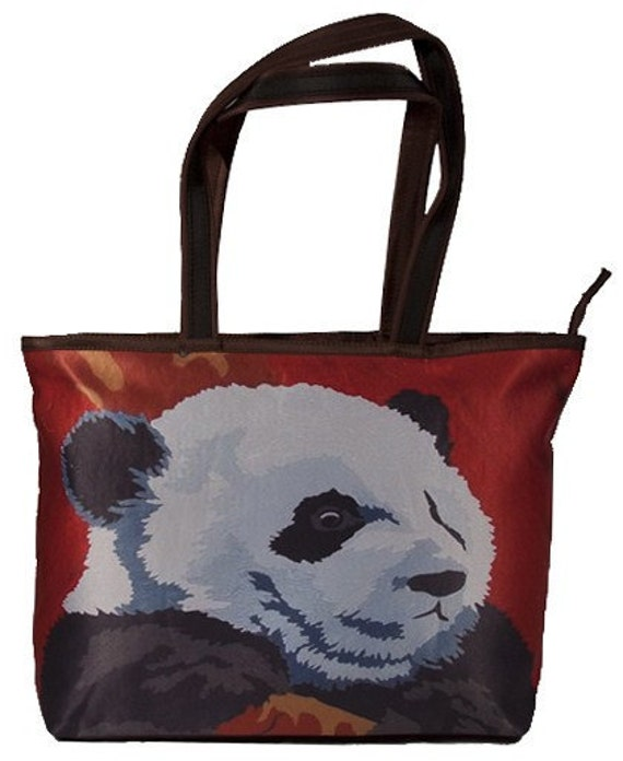 Giant Panda  tote bag, by Salvador Kitti -From My Original Painting - Support Wildlife Conservation, Read How
