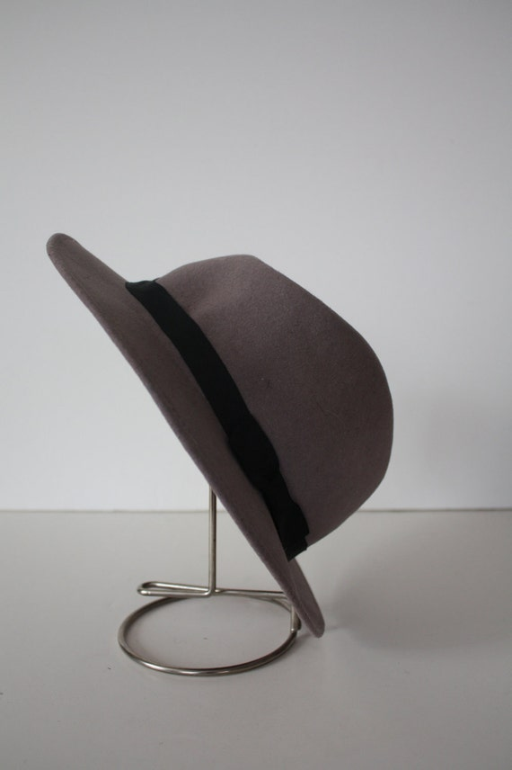 Vintage Felted Wool Ladies Fedora