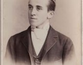 Cabinet Card, Young Man, Reading, PA,  Fritz Photographer