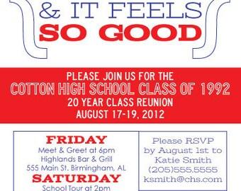 Modern Class Reunion Invitation - Reunited and It Feels So Good