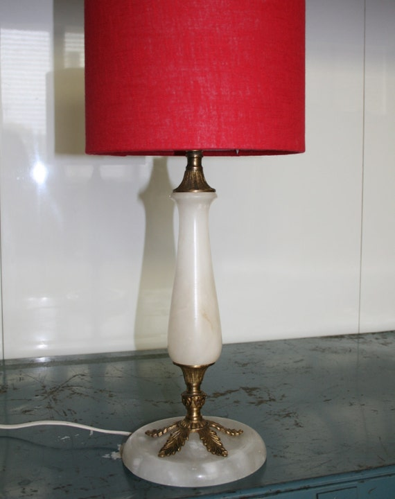 CLEARANCE - Vintage Table Lamp, Onyx and Brass