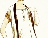 Sewing pattern-Dress. Elegant 1920s style. Standard size or made to measure.
